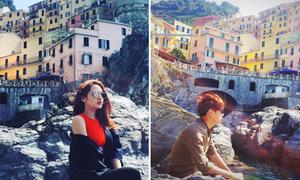Bảo Anh và Hồ Quang Hiếu 'bắt chước' nhau đi du lịch