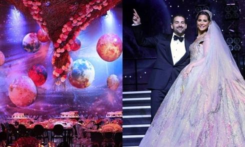 Đại gia Ảrập mang cả 'dải ngân hà' vào đám cưới triệu đô