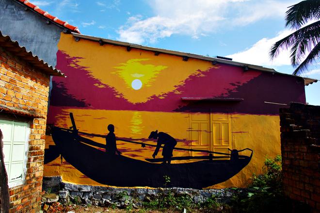 Ngôi làng bích họa đầu tiên ở Việt Nam