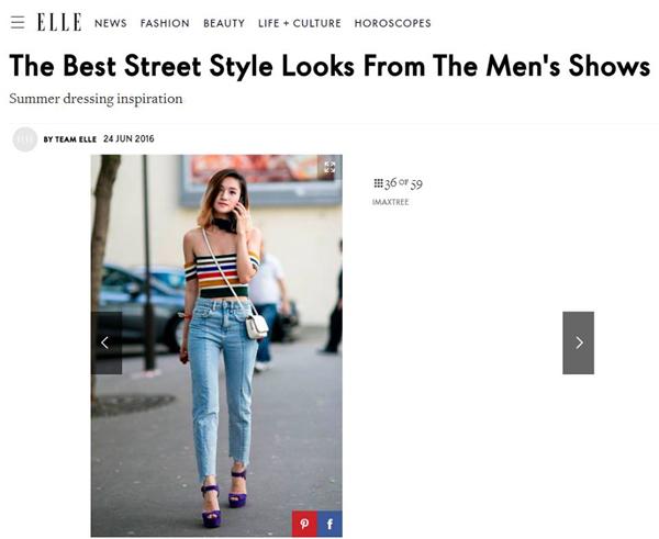 Nhờ cách phối đồ nổi bật và hợp mốt, Hiền Trang thường xuyên được xuất hiện trên các bài street style đẹp, ấn tượng của những trang báo nổi tiếng như New York Times, Vogue, WWD, BoF, Glamour, Elle, Cosmopolitan&