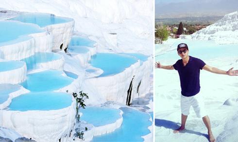 Lạc vào hồ bơi thần tiên trên núi đá vôi cùng Hồ Quang Hiếu