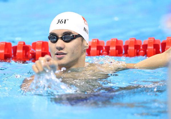 Tháng 8 năm ngoái, Ning Zetao trở thành hiện tượng ở Trung Quốc sau khi vô địch thế giới 100m tự do.
