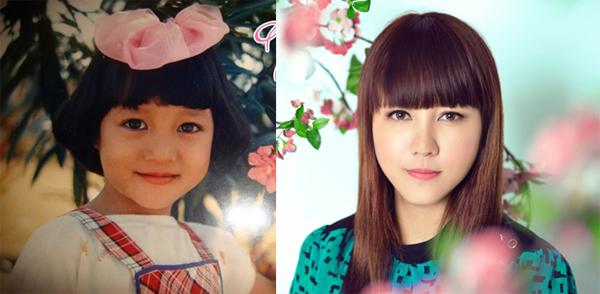 Ngọc Linh lúc nhỏ và hiện tại.