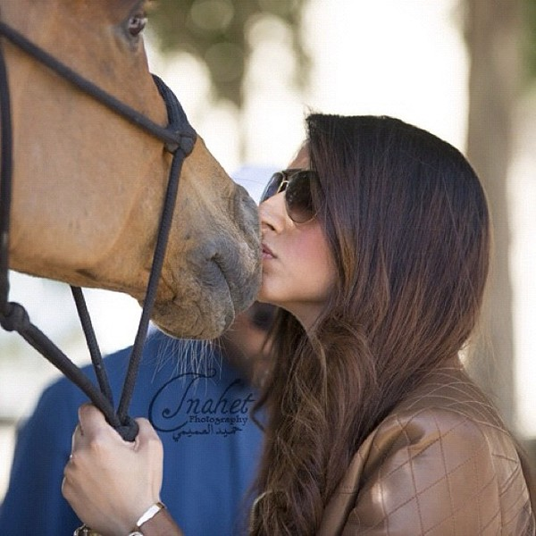 Like his father and the other Prince, Princess Maryam loves horses and horse riding.
