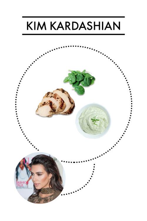 Các món ăn ưa thích của Kim là cải bó xôi, gà nướng sốt chanh,