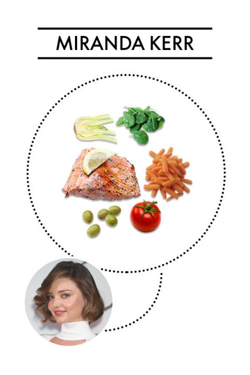 Miranda ưa thích cải bó xôi, cá hồi, quả ô liu, cà chua, cà rốt