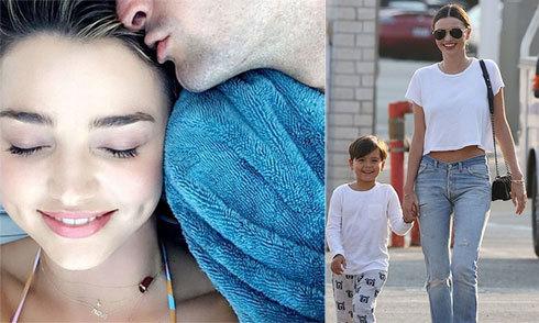 Miranda Kerr hạnh phúc bên bồ tỷ phú và con trai