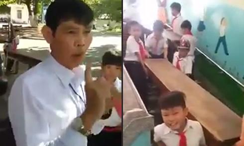 Phụ huynh đôi co với thầy giáo vì bắt con khiêng bàn ghế