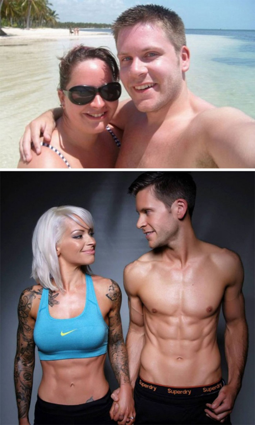 Claire và Steven đã mất gần 5 năm cùng nhau ăn kiêng và tập luyện để thay đổi vóc dáng.
