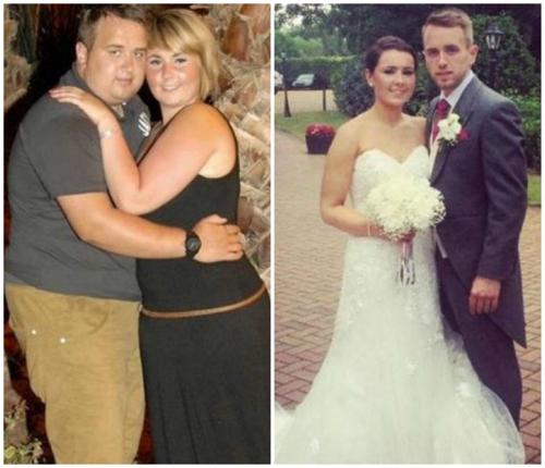 Để chuẩn bị cho đám cưới trong mơ, cặp đôi này đã giảm tổng cộng 60 kg.