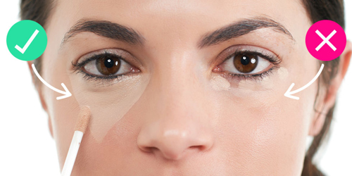 Che khuyết điểm mắt sai cách