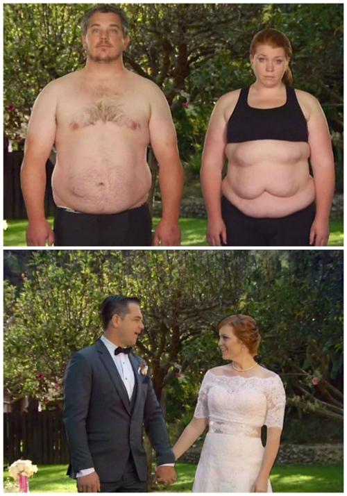 Bryce và Amber đã cùng nhau giảm 84 kg cho ngày trọng đại của cuộc đời.