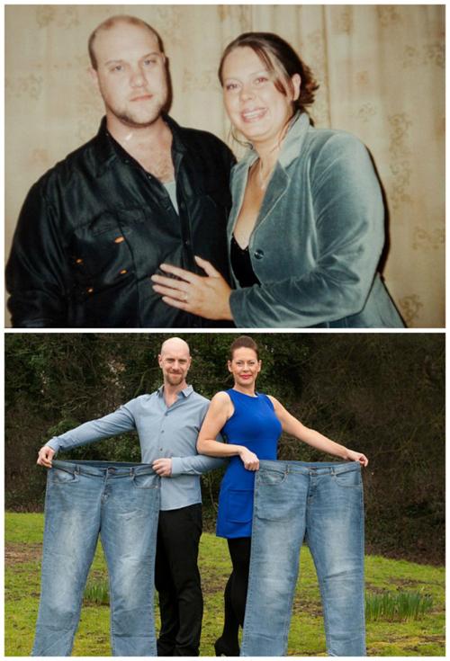 Michelle và Pete đã có cuộc thi đua xem ai giảm cân nhanh hơn. Hai người đã giảm được 86 kg.