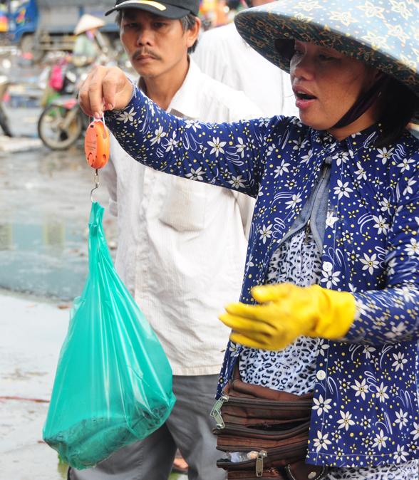 'Chợ chồm hỗm' bán cá giá rẻ nhất Sài Gòn