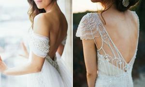 24 mẫu váy cưới đính ngọc trai đẹp yêu kiều