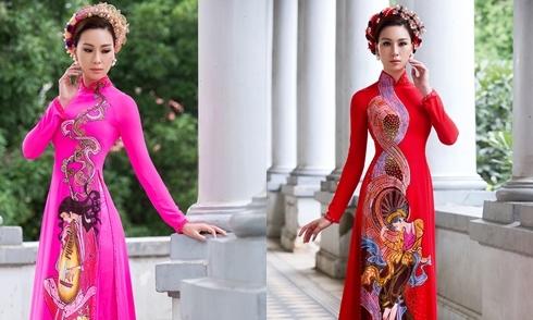 Bạn gái Trương Nam Thành gợi ý áo dài ăn hỏi lụa tôn dáng