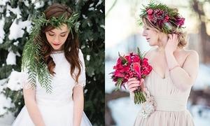 18 mẫu vòng hoa đội đầu cho cô dâu mùa đông
