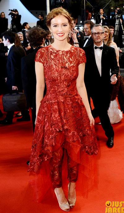 Ahna OReilly As I Lay Dying Cannes Premiere, Monique Lhuillier.