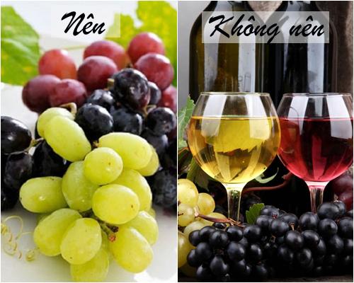 Nho là loại quả chứa rất nhiều các loại vitamin, có tác dụng ngăn ngực chảy xệ,