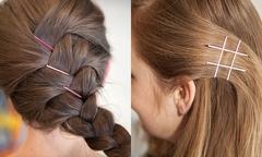 10 cách làm mới mái tóc chỉ với vài chiếc cặp tăm