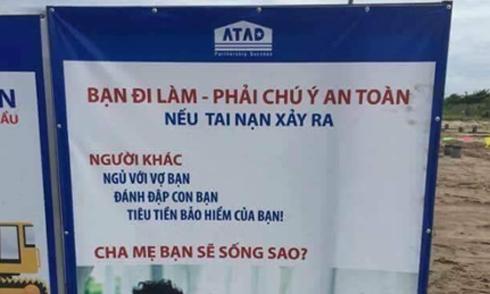 Poster an toàn lao động lạ đời được nhiều người ủng hộ