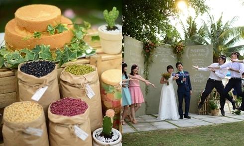 Cặp đôi Sài Gòn mang cả nông trại vào tiệc cưới