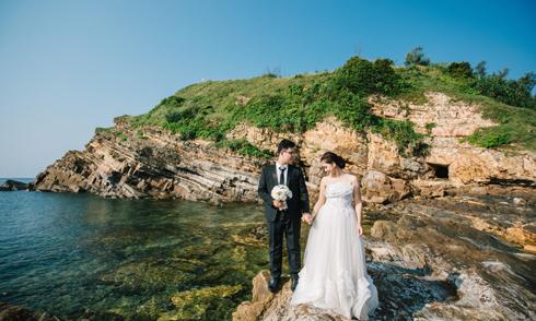Ảnh cưới trên đảo Cô Tô của cô giáo tiếng Pháp