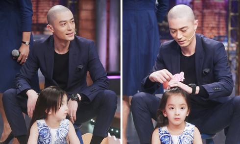 Ông xã Lâm Tâm Như tập chăm sóc con gái