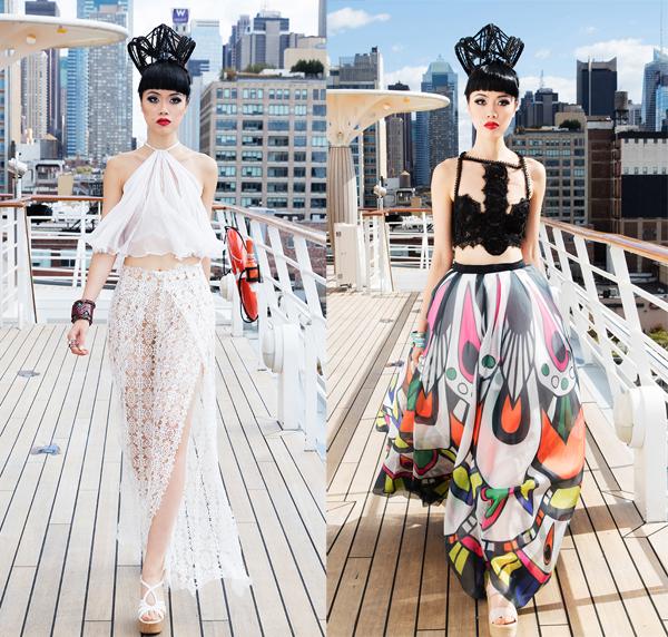 Show diễn trên tàu khổng lồ ở New York của Jessica Minh Anh
