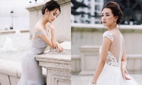 MC Quỳnh Chi hóa cô dâu mơ màng