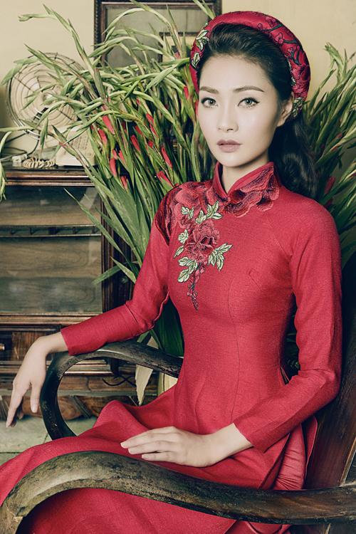 Những mẫu áo dài cưới truyền thống