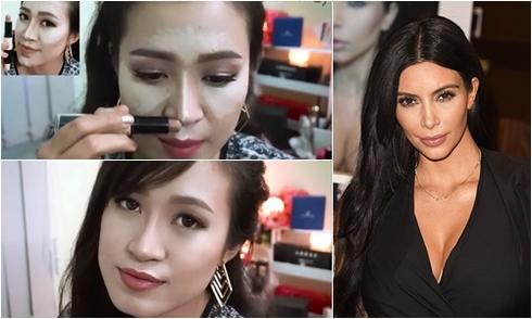 Học cách trang điểm tạo khối giúp khuôn mặt thon gọn của Kim