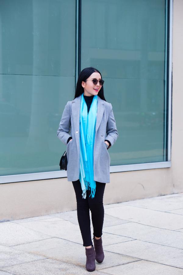 Mix & match khăn choàng thu đông cho cô nàng sành điệu - ảnh 4