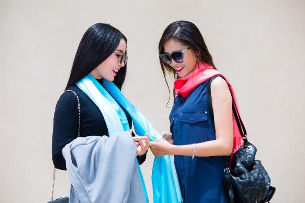 Mix & match khăn choàng thu đông cho cô nàng sành điệu - ảnh 10