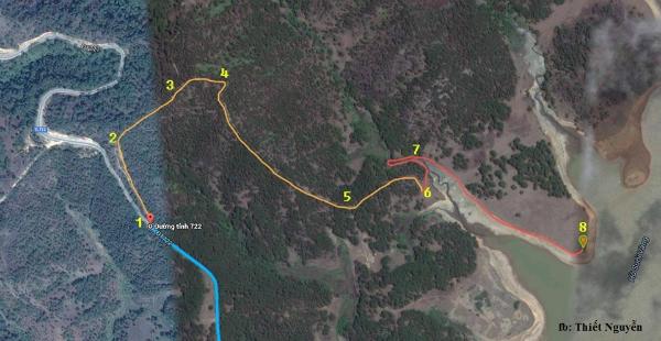 Tọa độ chi tiết cho các dân phượt dễ tìm được cây cô đơn.