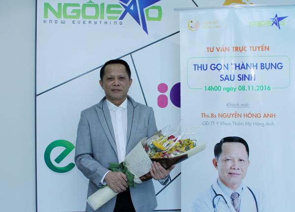 Thạc sĩ, bác sĩ Nguyễn Hồng Anh, Giám đốc trung tâm y khoa thẩm mỹ Hồng Anh.
