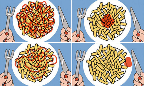 Mỗi cách rưới ketchup ẩn chứa một điều thú vị về bạn