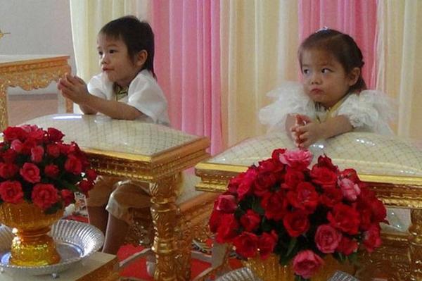 Bố mẹ làm đám cưới cho hai con song sinh - ảnh 2