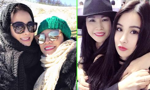 Diệp Lâm Anh cùng mẹ du ngoạn Hàn Quốc
