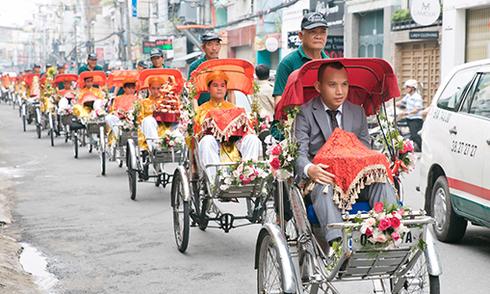 Lễ đính hôn theo phong tục Hà Nội giữa Sài Gòn