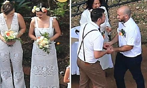 Miranda Kerr làm phù dâu trong lễ cưới đồng tính của em trai