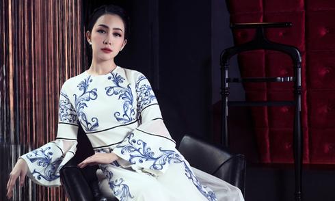 Linh Nga kiêu sa trong trang phục Adrian Anh Tuấn