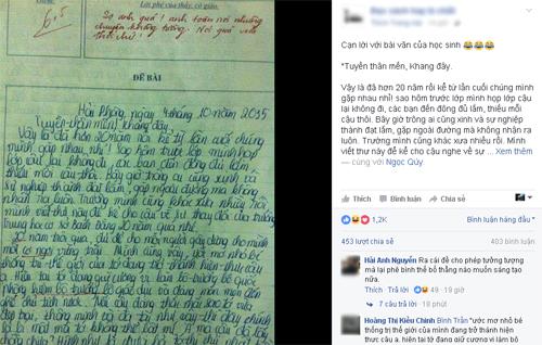 Bài văn khiến cô giáo phê 'Sợ quá, nói quá vừa thôi chứ' Baikiemtra-3482-1483698342