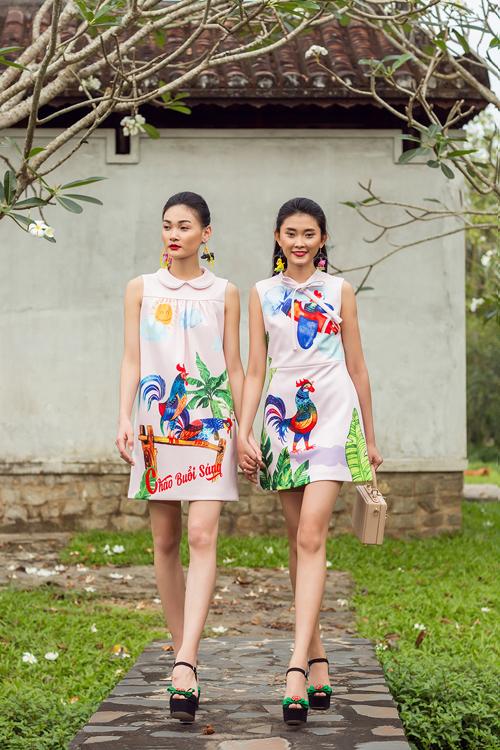 Mừng xuân Kỷ Dậu 2017, hai nhà thiết kế Vũ Ngọc và Son đã giới thiệu bộ sưu tập mới của mình lấy cảm hứng từ hình ảnh những chú gà ngộ nghĩnh.