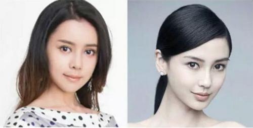 Khuôn mặt V-line cùng tỷ lệ với Angelababy.