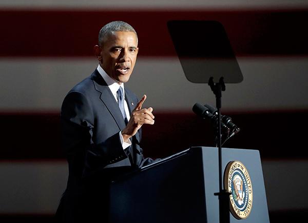 Ông Obama nêu ra ba thành tựu nổi bật nhất trong thời gian làm tổng thống Mỹ. Đó là bình thường hóa quan hệ với Cuba, chấm dứt chương trình hạt nhân của Iran một cách hòa bình và tiêu diệt trùm khủng bố Osama bin Laden, kẻ đứng sau vụ khủng bố ngày 11/9/2001.