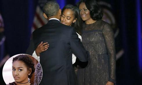 Lý do con gái út vắng mặt khi ông Obama phát biểu chia tay