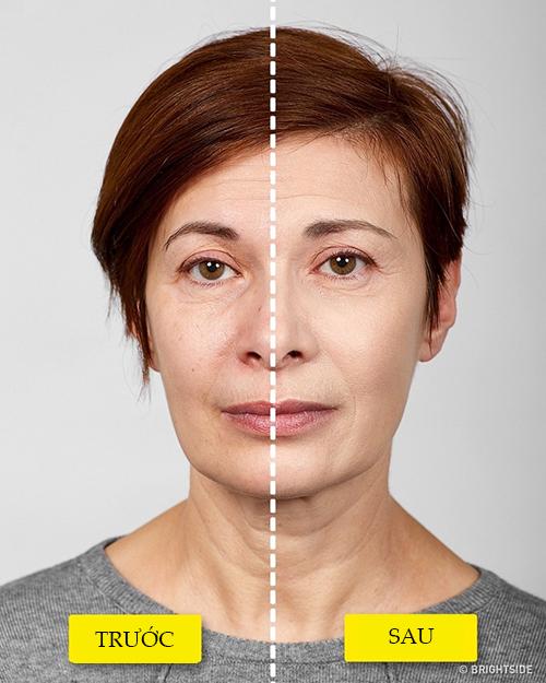 Với phụ nữ trung niên, bước tán kem lót rất quan trọng. Thoa kem lót có một chút nhũ, trắng hơn màu da thật một tone giúp làn da trông tươi sáng, trẻ trung hơn.