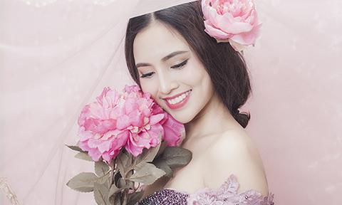 Trang điểm tông hồng ngọt ngào cho cô dâu mùa xuân