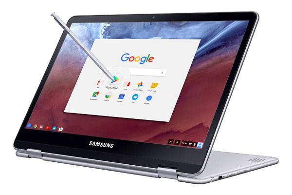 Chromebook mới thiết kế xoay linh hoạt, hỗ trợ bút S-Pen